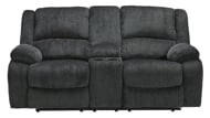 Picture of Draycoll Slate Reclining Loveseat with Console