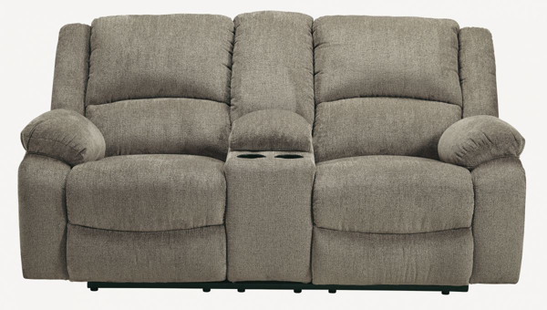Picture of Draycoll Pewter Loveseat with Console