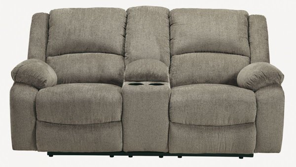 Picture of Draycoll Pewter Power Loveseat with Console