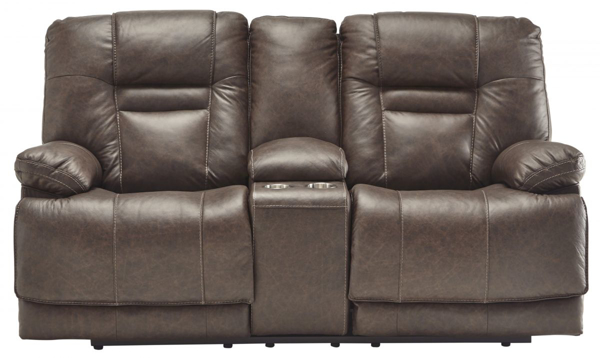 Picture of Wurstrow Umber Power Reclining Loveseat