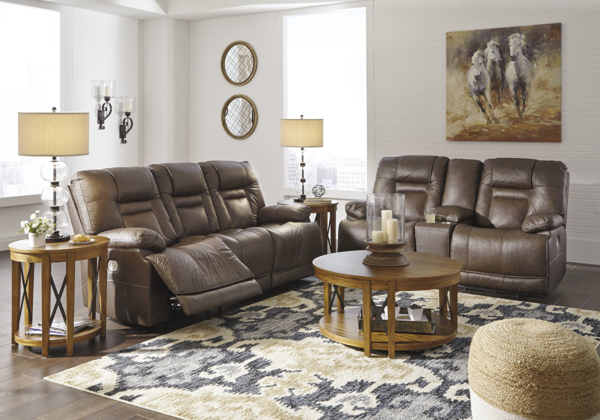 Picture of Wurstrow Umber 2-Piece Power Living Room Set