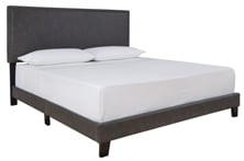 Picture of Vintasso Grayish Brown Queen Upholstered Bed