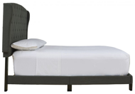 Picture of Vintasso Charcoal Queen Upholstered Bed