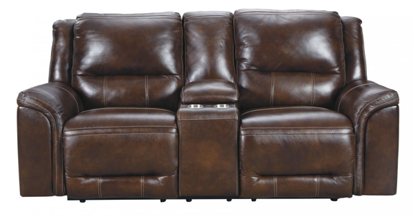 Picture of Catanzaro Leather Power Reclining Loveseat