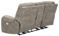 Picture of Yacolt Fog Power Reclining Loveseat With Console