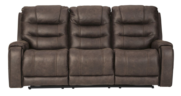 Picture of Yacolt Walnut Power Reclining Sofa